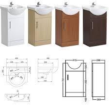 Bathroom Vanity Unit Uk by Bathroom Vanity Unit Basin Sink Cabinet Storage Furniture Cupboard