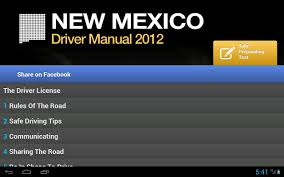 dmv manual book new mexico driver manual free android apps on google play