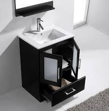 avola 24 inch modern single sink bathroom vanity espresso finish