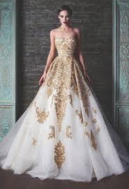 golden wedding dresses wedding corners
