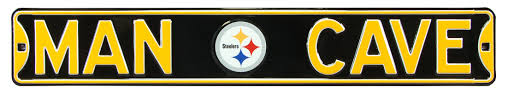 authenticstreetsigns pittsburgh steelers steel cave sign wall
