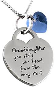granddaughter jewelry granddaughter you stole our heart inspirational sentimental message