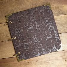 embossed leather photo album home decor retro creative gift ancient personalized embossed