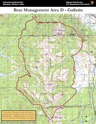 Map Of Yellowstone Park Bear Management Area D Gallatin Map Yellowstone National Park