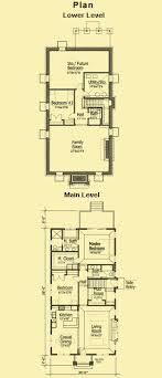 narrow cottage plans shocking ideas narrow lot townhouse plans 6 cottage plans 1 story