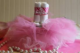 tutu centerpieces for baby shower diy baby shower centerpieces using diapers frugal fanatic