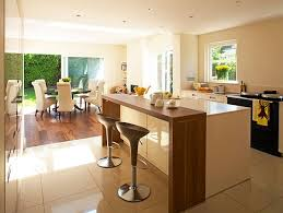 modern kitchen and dining room design living room design sleek open space kitchen and dining room with