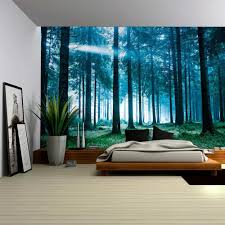 wall26 com art prints framed art canvas prints greeting wall26 blue misted forest with the sun peaking through wall mural removable sticker home decor 100x144 inches