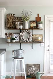 Ideas For Kitchen Decor Decorating Shelves In A Farmhouse Kitchen