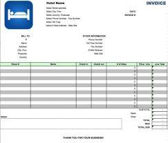 hotel invoice template doc invoice sample template