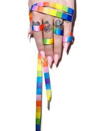 Taste The Rainbow Shoelaces Dolls Kill