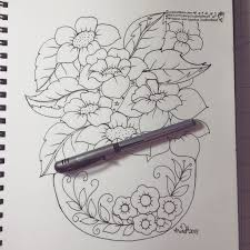 drawing flowers in a vase youtube