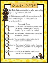 enjoy this free context clues anchor chart by the resourceful