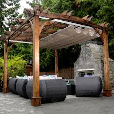 outdoor retractable roof pergolas covered attached custom