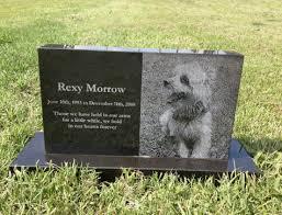 pet headstones granite black granite photo pet monument