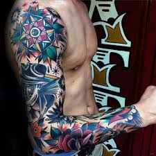 60 traditional tattoo sleeve designs for men old ideas