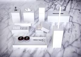 Modern Bathroom Accessories by Knief K Stone Pure Bathroom Accessories In White Bathroom