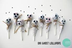 diy ghost lollipops minted strawberry