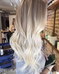 ombre balayage platinum blonde long hair balayage ombre