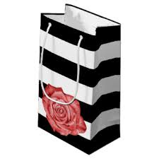 black and white striped gift bags black stripes gift bags zazzle