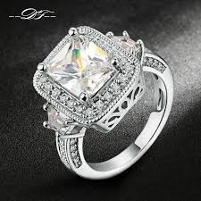 diamond rings aliexpress images Luxury rose gold and silver engagement rings jpg