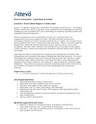Sample Resume For Solution Architect by 100 Sample Resume Solution Architect Architect Resume