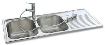 Stainless Steel Double Bowl Kitchen Sink Solutions Taps And - Kitchen bowl sink