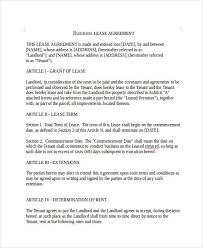 doc 740979 sample template commercial lease agreement u2013 13