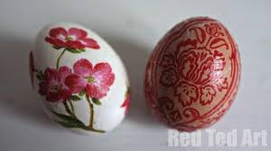 blown easter eggs decorating ideas decoupage