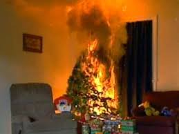christmas tree safety fire and rescue concepts
