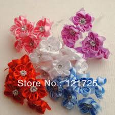 2017 satin flowers home decoration crafts scrapbooking decor mini