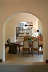 Birdcage Chandeliers Birdcage Chandelier Dining Room Traditional With Arched Doorway