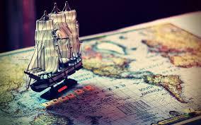 Map Wallpaper Travel Map Sailing Ship 6912997