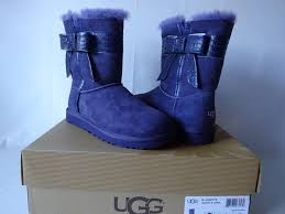 s ugg australia josette boots ugg josette boots size 6 purple w bow shearling 1003174 eu