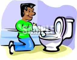 cartoon pictures of cleaning man cleaning a toilet royalty free clipart picture