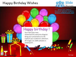 Samples Of Birthday Greetings Happy Birthday Wishes Powerpoint Ppt Slides