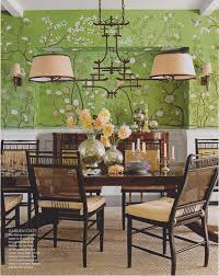 Room Extravagance Sybaritic Spaces Gorgeous Green Dining Room De Gournay Wallpaper