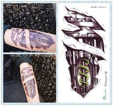 tattoo 3d mechanical individuality waterproof temporary tattoos for boy men 3d mechanical