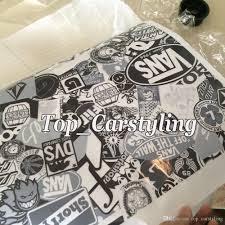 white black stickerbomb vinyl wrap jdm sticker bomb sticker with