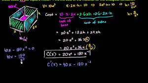 derivative applications calculus all content first year
