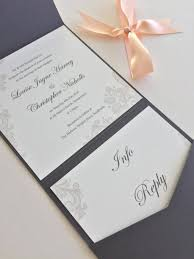 folded wedding invitations wedding ideas pearlescent grey lace print design pocketfold