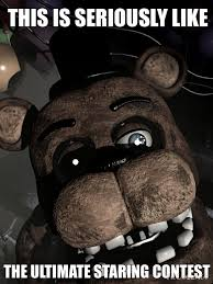 Meme Freddy - fnaf meme freddy staring contest by pastelsketch on deviantart