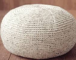 Knitted Ottoman Knitted Pouf Ottoman House Decorations