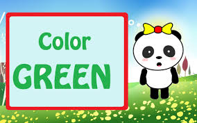 Color Green Learn The Colors Teach Children The Color Green Learn English