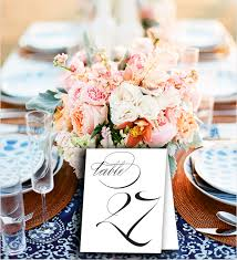 printable table number cards swindon wedding table number