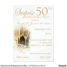 34 surprise 50th wedding anniversary invitations vizio wedding