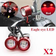led strobe lights for motorcycles 2x dc 12v motorcycle rearview mirror eagle eye 3 led flash strobe