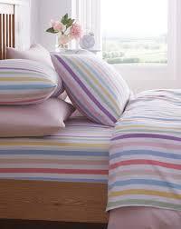 striped brushed cotton flannelette sheet j d williams