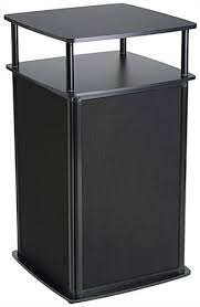 Locking Portable Display Pedestal Fold Up Black Cabinet