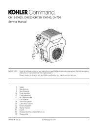 kohler command pro 25 ch730 pdf carburetor gasoline